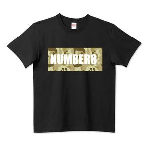 ロゴスモールダイヤモンドTシャツブラック(ベージュカモフラバージョン) Number8(ナンバーエイト) メンズ レディース キッズ