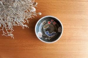 砥部焼/「青い鳥」たたら作り小鉢/森陶房Kaori