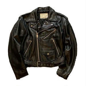 OLD 牛革 leather double-riders jacket ダブルライダース