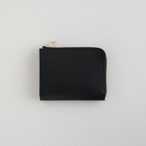 革の財布S ブラック