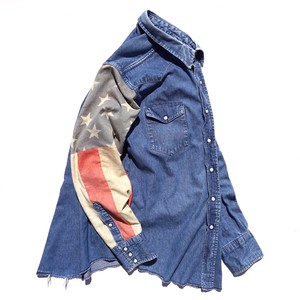 "[Magfacture] ""STARS & STRIPES DENIM WESTERN SHIRT"" size:L程度"
