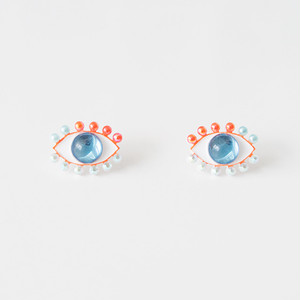 Medama Pierces / Earrings(S) -mandarin-iceblue-