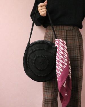 40's circle crochet bag