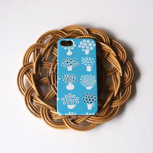 ハード型スマホケース flower base (light blue)【iPhone/Android 各機種対応】