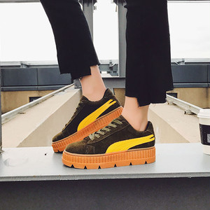 【sneakers】New Korean  student ins Hot  thick bottom sneakers