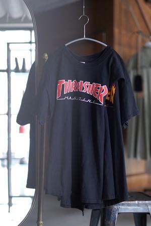OLD PARK / CROSS TEE  ( THRASHER / BLACK  )