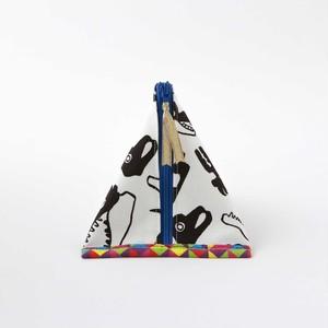 三角ポーチ【頭蓋骨柄】内側和モダン柄