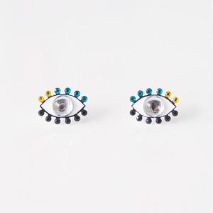 Medama Pierces / Earrings(S) -clear-turqoise-