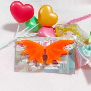 悪魔の羽♡蛍光オレンジ(ラメなし)
