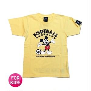 Mickey Mouse コラボ Tシャツ gramo「ONE DREAM」(ライトイエロー/T-022) ※110~150cmサイズ