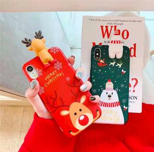 【お取り寄せ商品】モチーフ付きクリスマスiPhoneケース 7997