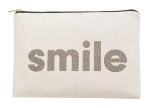 キャンバスポーチ(Lサイズ)Smile - マルチカラーグリッター