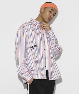 Color Stripe Shirts [Pink]