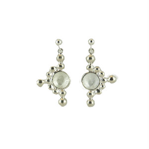 Light_tate(Silver) Pierced Earrings