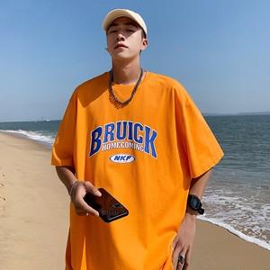 【トップス】男女兼用オーバーサイズストリート系アルファベットプリント半袖Tシャツ44060145