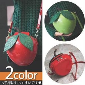 エナメル リンゴ型 ショルダーバッグ エナメルバッグ 立体 斜めがけ 鞄 リンゴ 林檎 アップル フルーツ 果物 コスプレ 白雪姫 870501