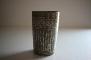 小林耶摩人|灰三島筒杯D