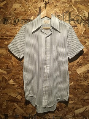 stripe knit dress shirt