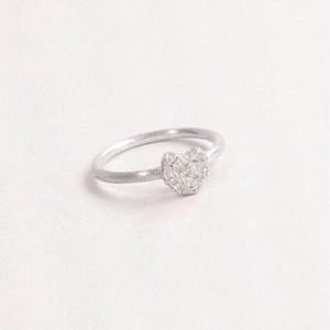 ヴァイオリン、ヴィオラ弦を溶かし固めたシルバーハートリングMelted ring Heart #2