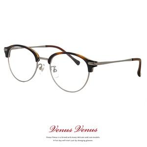 メガネ ブロータイプ サーモント型 2376-62 レディース Mサイズ メンズ Sサイズ 女性 男性 ボストン 丸メガネ コンビネーションフレーム