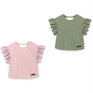 袖レースフリルTシャツ N0028