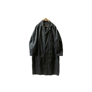 """[DEAD〜MINT] 40's """"FRENCH VINTAGE"""" BLACK CHAMBRAY COAT"""
