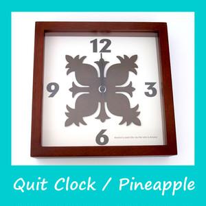 ハワイアンキルト 時計(パイナップル)