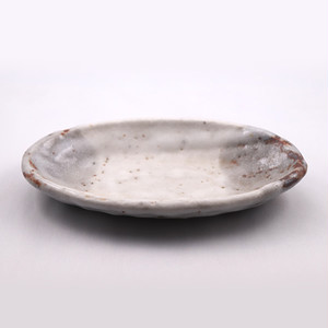 志野 楕円皿 小  Shino Elliptical Dish SMALL