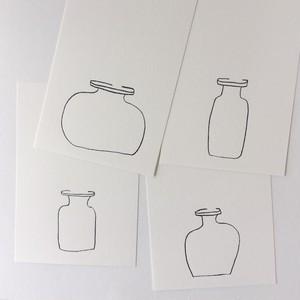 GLASS BOTTLE CARD