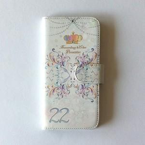 数秘&カラーオリジナル 手帳型スマホケース【22・CLEAR】