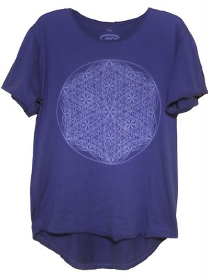Mens Indigo Dyeing Flower of Life