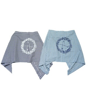 EFFECTEN/エフェクテン gingham check wraparound skirt