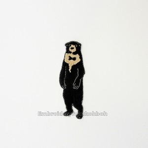 マレーグマ 野生動物 刺繍ワッペン