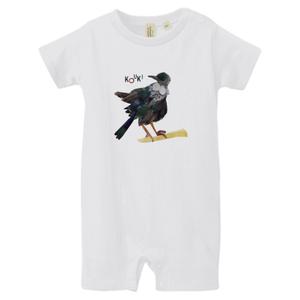 """ロンパース NZ Birds """"Tui"""" ★名前入れ可能"""