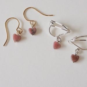 244.heart piace&earring