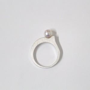 アコヤパールのドロップリング(Silver色)