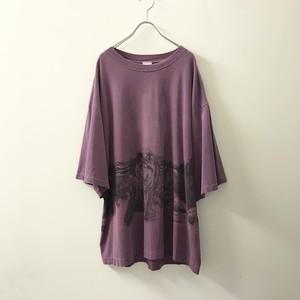 basics アニマルプリントTシャツ パープル size XL メンズ 古着
