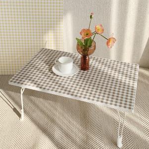 gingham check folding table 2colors / ギンガムチェック 折り畳み式 テーブル 韓国