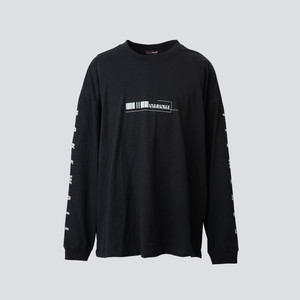 LOCATION LONG SLEEVES T-SHIRT【 BLACK 】