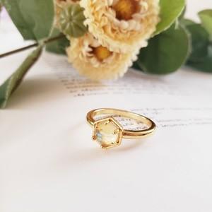 【送料無料】 silver925 Gold jewel ring (ゴールドジュエルリング)