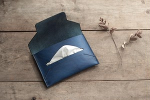 藍染革[migaki] ポケットティッシュケース