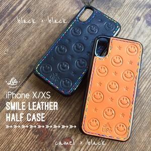 SMILE Leather iPhone Half CASE (X/XS用)