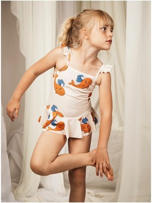 ミニロディーニ(minirodini) - Whale skirt SWIMSUIT【orange】[80/86・92/98・104/110・116/122]