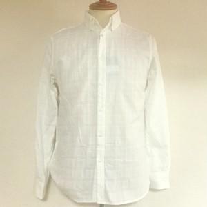 Double Gauze Shadow Check Shirts White