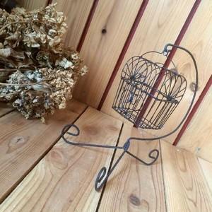 ≫ヴィンテージ古いアイアンミニバードゲージかわいい吊下げ小型鳥かご*錆シャビーインテリアディスプレイ雑貨*飾りビンテージアンティーク