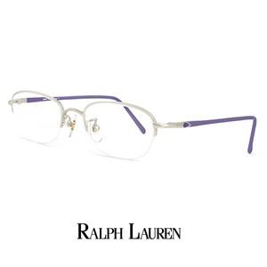 ラルフローレン メガネ rl716-pm 48mm 眼鏡 ralph lauren メタル ナイロール ハーフリム フレーム オーバル