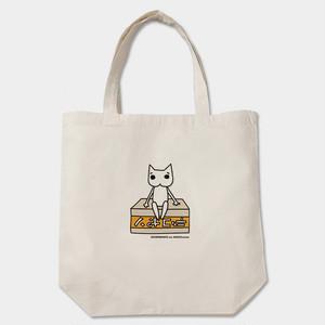 白猫のハク様 デコポントートバッグ 白/ベージュ