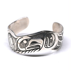 Vintage Northwest Coast Haida Raven Motif Bangle