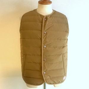 Stitchless Down Vest Beige