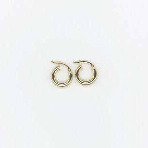 【14K-2-2】14K gold mini hoop earring